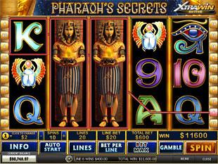 free Pharaoh's Secrets slot expanded wild
