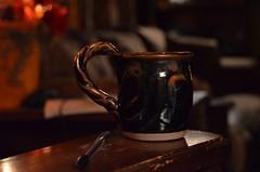 Brown Coffee Mug in a Brown Living Room (Truebritgal) Tags: brown up closeup pen living nikon dof close room household tones unedited sooc d7000 truebritgal