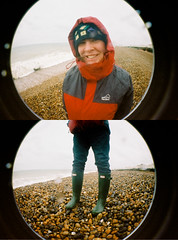 lomo fisheye rockcake montage (lomokev) Tags: sea portrait beach girl sarah lady female happy person fuji superia wideangle fisheye human wellington wellingtonboots fujisuperia sarahp fujisuperia400 lomofisheye deletetag rockcakes rockcake flickr:user=rockcake flickr:nsid=52261030n00 sarahmeredith かいがんsea file:name=100311lomofisheye1516edit roll:name=100311lomofisheye
