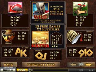 free Sparta slot mini symbol
