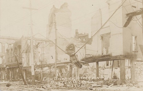 Fire District, Jefferson Street, Dayton, OH - 1913 Flood
