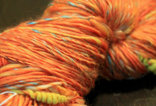 Orange Party singles yarn