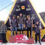 2011 GMC Cup Giant Slalom at Red Mountain Resort - Men's Overall Podium PHOTO CREDIT: Gregor Druzina
