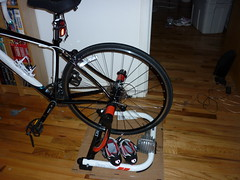 Bike mounted on the trainer