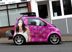 Sky Smart - (BOB@ wootton) Tags: street sky smart car television st tv 3d satellite union hd isle smartcar wight iow ryde