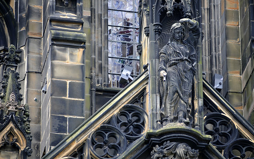 Statue On The Scott Monument