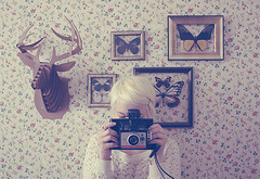 (_acido) Tags: flowers vintage butterfly polaroid picture cant deer sigh frame use canoneos450d