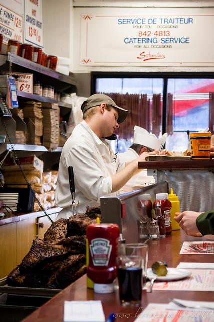Taking Orders, Schwartz' Montreal Hebrew Delicatessen, Montréal, Quebec, 2011
