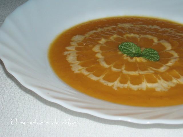 crema de zanahoria y naranja 3