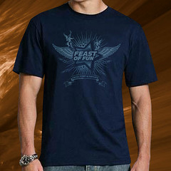"""Angels"" Feast of Fun T-Shirt, Navy / Blue"