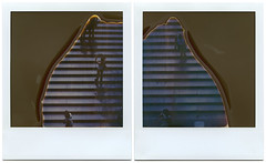 the stairs (davebias) Tags: stairs polaroid sx70 diptych centralpark expired timezero