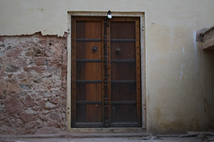 Old Locked Door (Sumit Nagi) Tags: door india fort tomb mahal jaipur forts rajasthan hawamahal hawa pinkcity olddoor rajput heritagesites historicalplace lockeddoor rajputs rajputarchitecture pinkcityjaipur oldlockeddoor