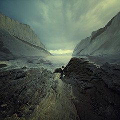 Raging Instinct (swinspeed) Tags: sea storm mountains water clouds photoshop painting rocks anger shore matte raging instict swinspeed