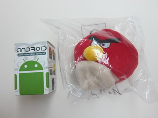 Angry Birds Plush Toy & SingTel Android Toy (IT Show 2011)