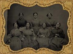 Victorian Seamstresses Ambrotype (Mirror Image Gallery) Tags: sewing ambrotype seamstresses victorianwomen