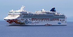 NORWEGIAN GEM AT MYKONOS (wirralwater (NO MORE UPLOADS)) Tags: cruise water island greek boat ship vessel norwegian greece gem mykonos ncl at