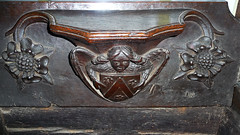 Misericord Chichele Arms medieval woodwork