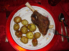Roasted Rosemary Lambshank (Treasured Hungarian Family Recipes) Tags: cakes photos goulash breat cabbagerolls tortes nutroll beigli hungarianfood walnutroll bejgli hungariancooking treasuredhungarianfamilyrecipes helenmradics easyhungarian helenshungarianheritage