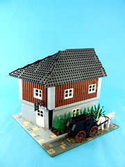 Cat's Eye Tavern (Shadow Viking) Tags: street building beer inn carriage lego yeah drink pirates yo ale stuff tavern cornelius lisbeth portroyal foitsop forbiddencove jrc2 thatoneguythatgothitinthefactwithamusketstockinthepillagescene