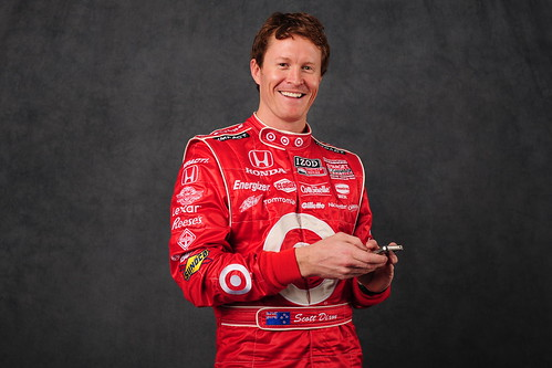 IZOD IndyCar Series Driver Scott Dixon at the 2011 IZOD photo shoot
