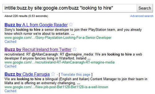 How to find a job with Google Buzz (2)