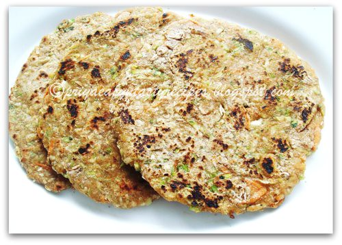 Mixed Veggies Barley Paratha