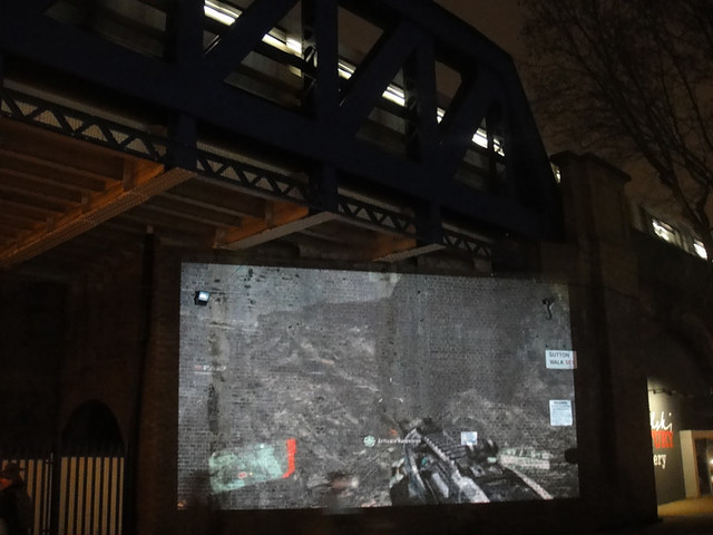 Crysis 2 Live Alien Invasion - Projections around London, 15/03/11