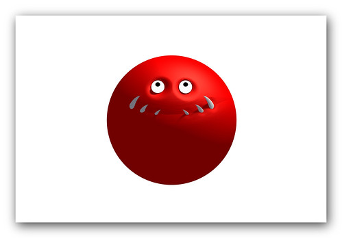 rising sun flag. Monster Red Nose Rising Sun