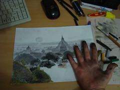 DSC02517 (paulinho_rs) Tags: work trabajo hand drawing pastel dirty mano draw coal dibujo giz mão desenho trabalho sujo desenhando carvão sucio dibujando carbón