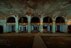 Lobby (Noel Kerns) Tags: abandoned night hotel texas baker wells lobby mineral