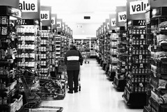 """""""Consumerism"""" (べンジャミン) Tags: shop shopping market trolley super rows value groceries consumer demand orton supply shopper"""