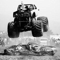 Monster Jump (Thomas Hawk) Tags: california bw truck 10 halfmoonbay monstertruck fav10 dreammachines dreammachines09
