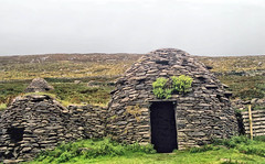 Beehive huts on the Dingle Peninsula (larigan.) Tags: ocean ireland scans scenic huts westcoast rugged dunquin dinglepeninsula beehivehuts sleahead cokerry larigan phamilton gettyimagesirelandq1 licensedwithgettyimages