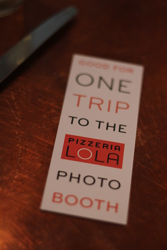 Photobooth ticket, $3