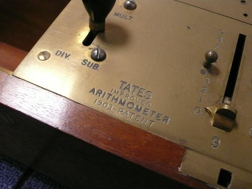Tates Improved Arithmometer