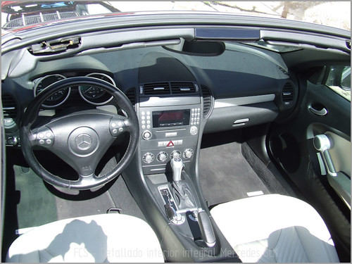 Mercedes SLK detallado interior-24