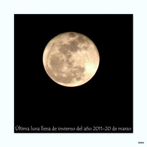 Luna llena del 20 de marzo de 2011