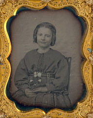 Girl With Her Little Doll Daguerreotype (Mirror Image Gallery) Tags: daguerreotype antiquedoll victoriantoys