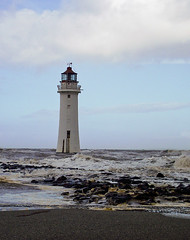 Fort Perch Rock Lighthouse (neilh2012) Tags: uk sea river waves lancashire estuary mersey wirral rivermersey thewirral