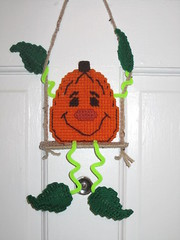 Swinging Pumpkin (TheLoopyStitcher) Tags: sewing crafts loopy stitcher plasticcanvas