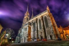 St. Peter and Paul's Cathedral after Sunset (Miroslav Petrasko (blog.hdrshooter.net)) Tags: sunset sky church st night clouds canon republic czech cathedral tripod religion petra sigma pauls brno peter after 1020mm hdr sv pavla cechy puple republika morava ceska katedrala photomatix 450d theodevil shrshooter