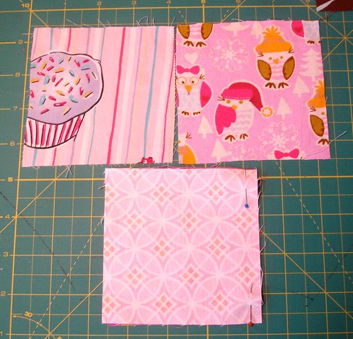 Altered Four Square Quilt Block Tutorial: Initial Pinning of Both Pairs