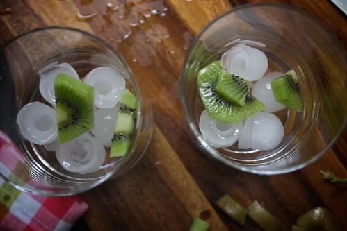 chopped kiwi