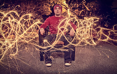 084/365 Fun Experiment V.1 (matthewcoughlin) Tags: street trees selfportrait sparklers converse lighttrails longshutter lightstreaks speedlite offcameraflash strobist 3652011 2011inphotos