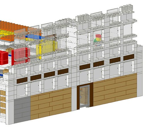 Work In Progress - LEGO® 'Loyds Toys' Toy Shop Back Wall Design