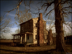 Winter of Decay (History Rambler) Tags: old house abandoned home architecture rural south northcarolina historic plantation antebellum oaktree decayed martincounty greekrevival oncewashome anotherconfusingsign
