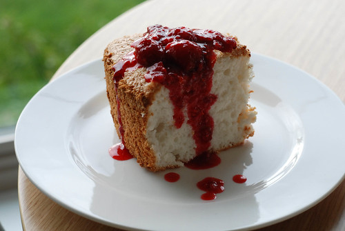 Raspberry Angelfood Cake