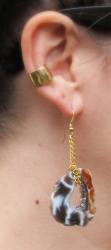 earrings, self made