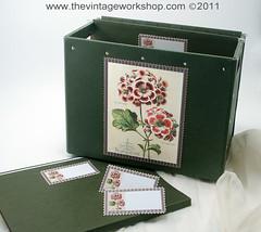 Floral File Box
