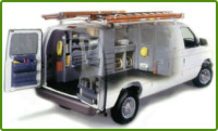 Cargo Van with A Cable Telephone and Alarm Contractors Package